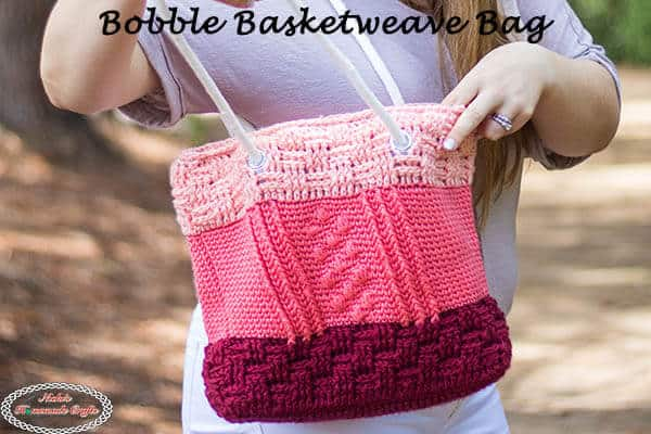 Bobble Basketweave Bag Crochet Pattern