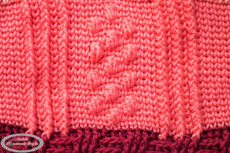 Crochet Bobble Basketweave Bag Part 2
