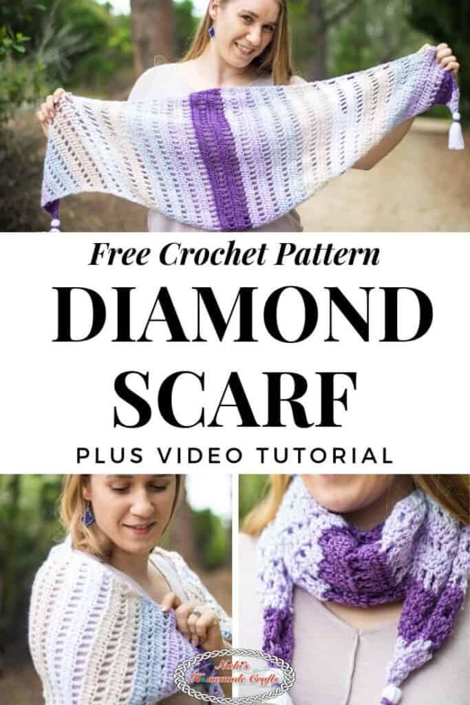 Diamond Scarf Free Crochet Pattern Pinterest