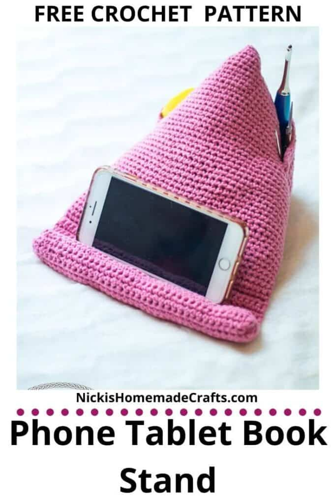 Crochet Phone Tablet Book Stand Pattern