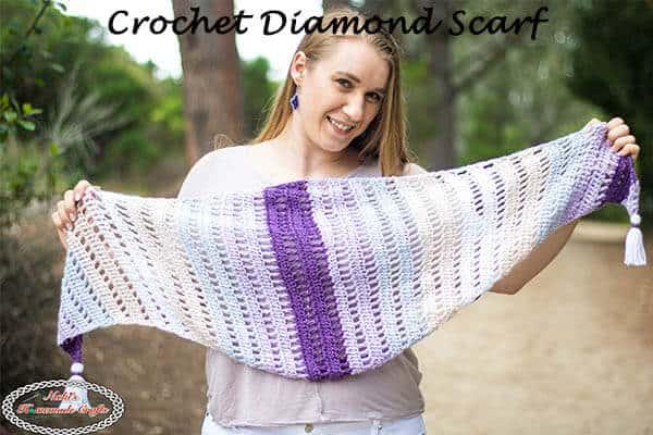 Diamond Scarf Crochet Pattern