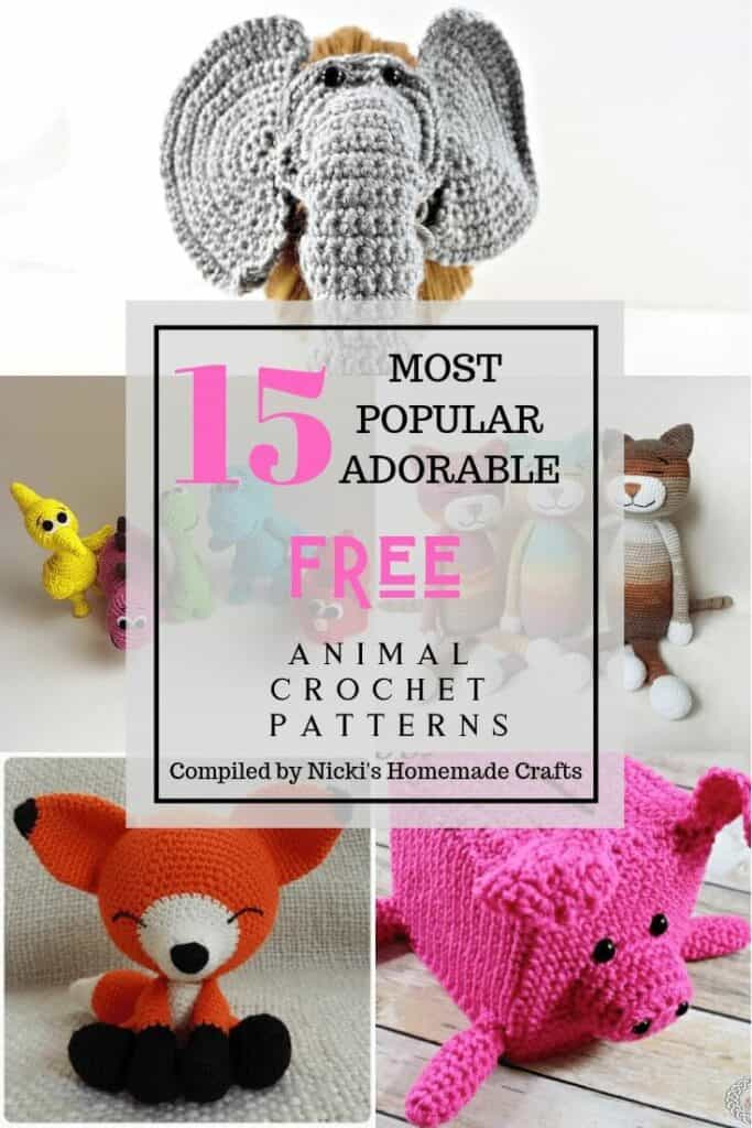 Adorable Free 15 pattern Crochet animals collection