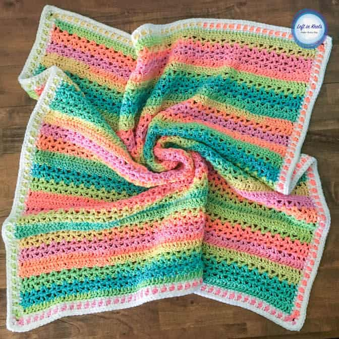 Unicorn Stripe Blanket