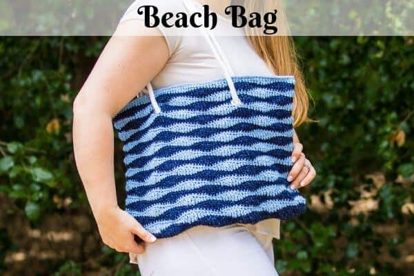 Crochet Beach Bag with Long Wave Stitch – Crochet Pattern