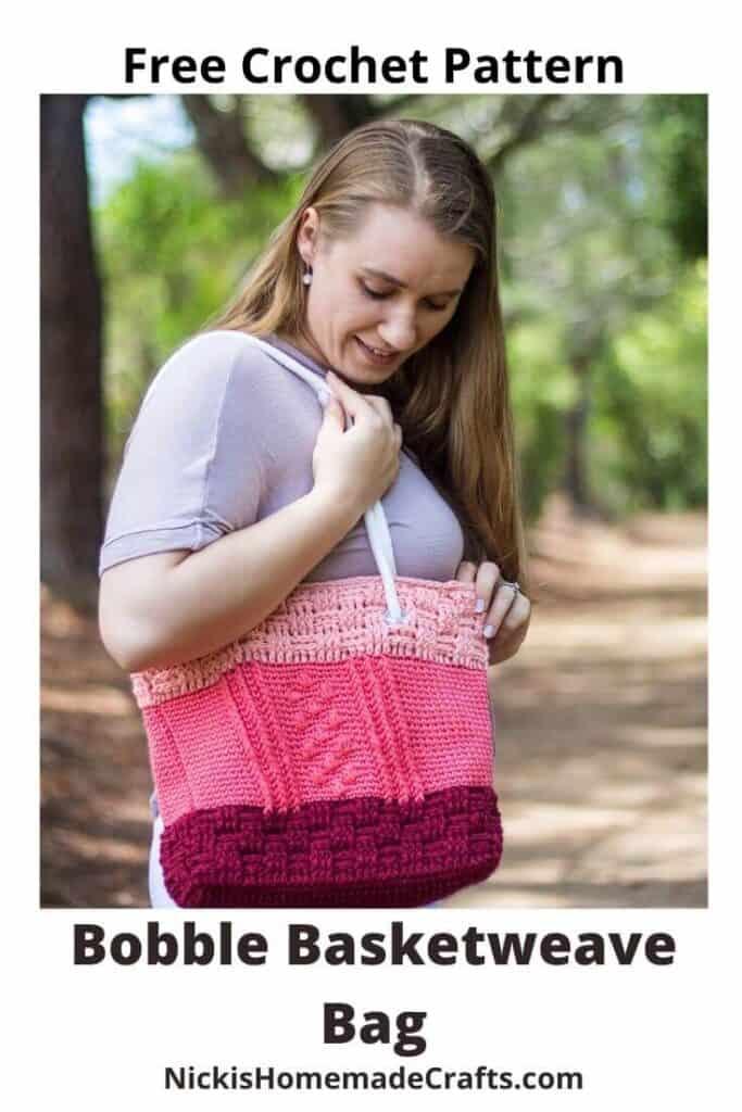 Bobble Basketweave Bag - Free Crochet Pattern