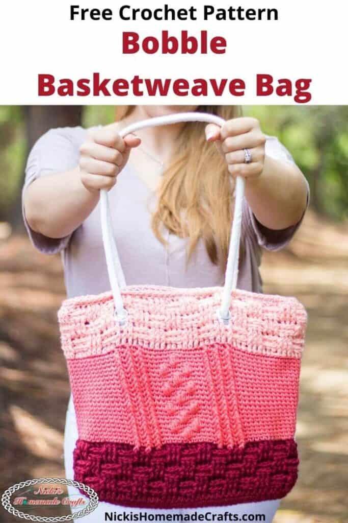 Bobble Basketweave Bag Pattern