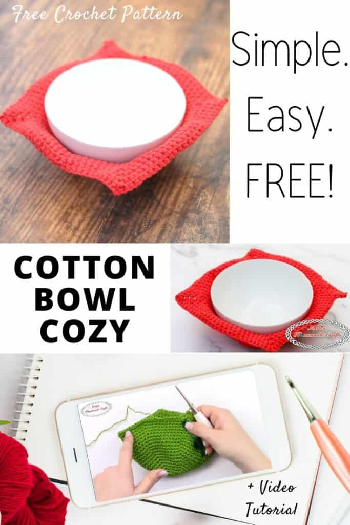 Easy Crochet Bowl Cozy Pattern
