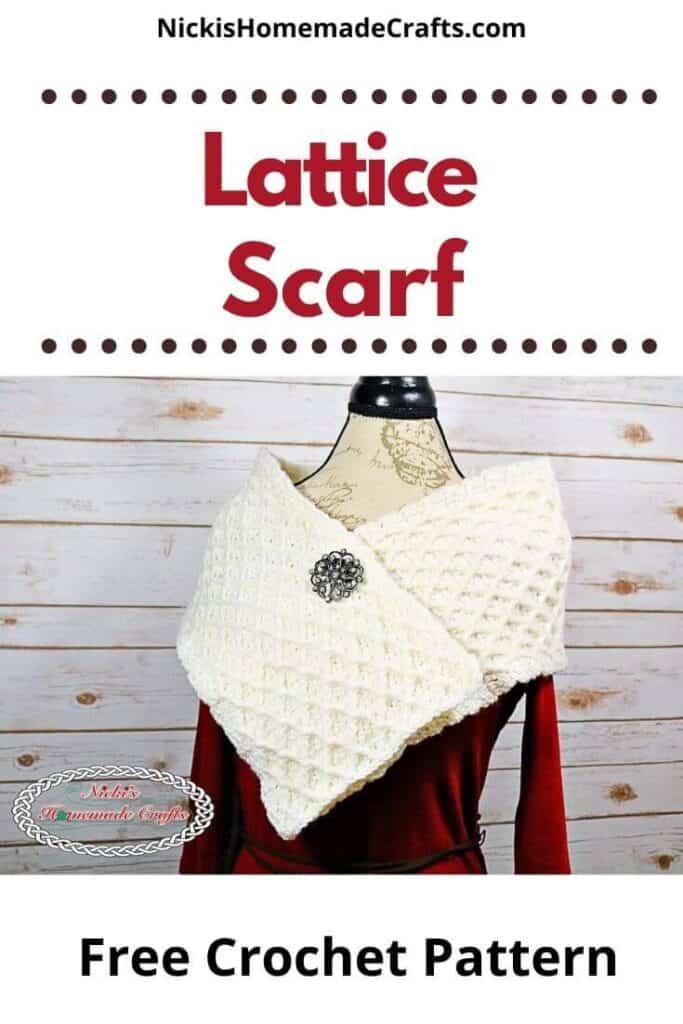Crochet Lattice Scarf