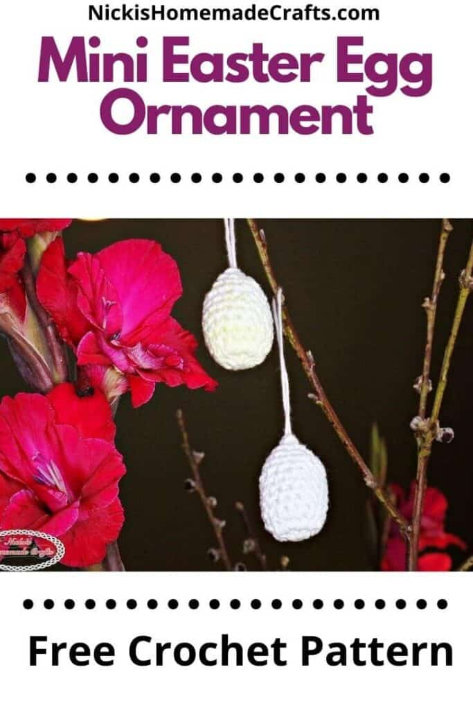 Crochet Mini Easter Egg Ornament