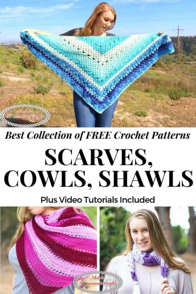 Crochet Scarves, Cowls and Shawls Patterns