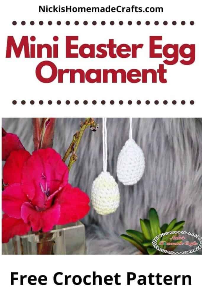 Mini Easter Egg Ornament - Free Crochet Pattern