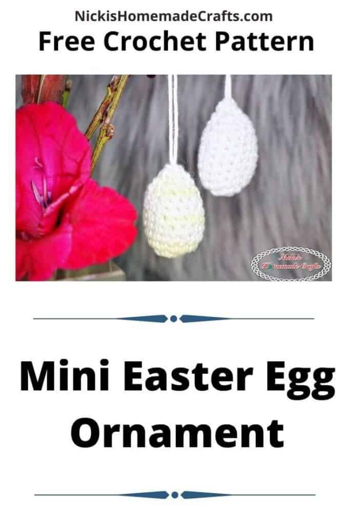 Mini Easter Egg Ornament Pattern