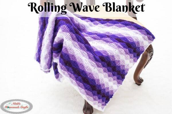Rolling Waves Crochet Blanket - Free Crochet Pattern