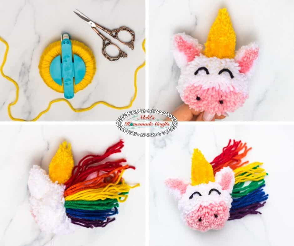 Unicorn Pom-Pom Clover Free DIY Tutorial Step 4