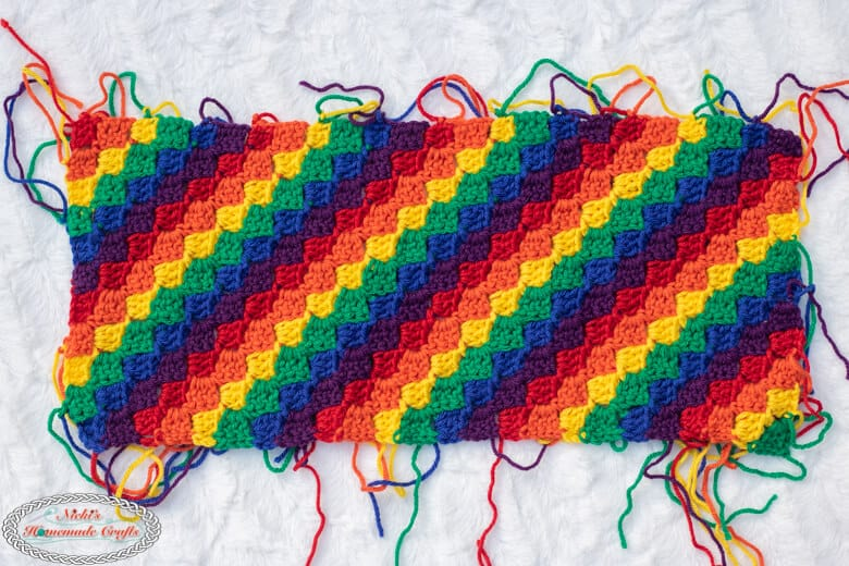Rainbow Hat with C2C pattern