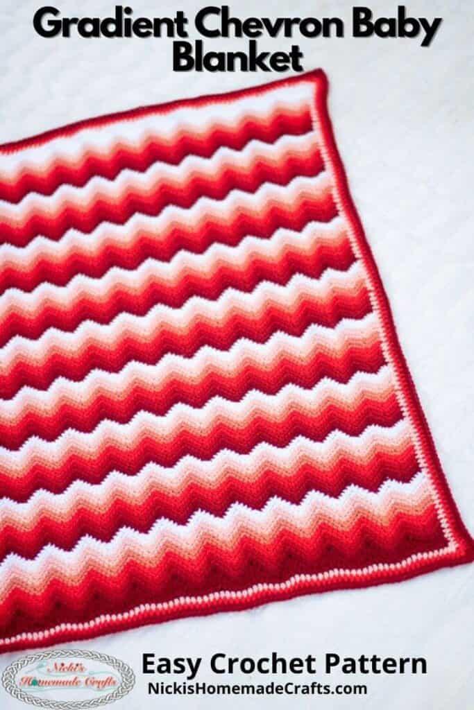 Crochet Gradient Chevron Baby Blanket Pattern