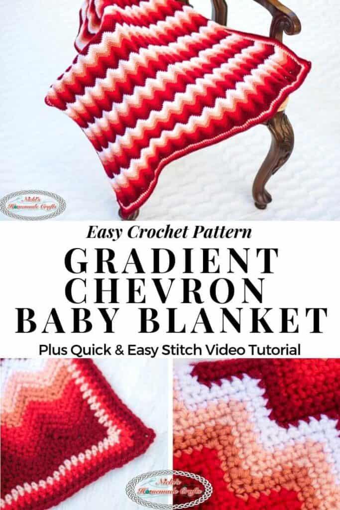 Gradient Chevron Baby Blanket Crochet Pattern