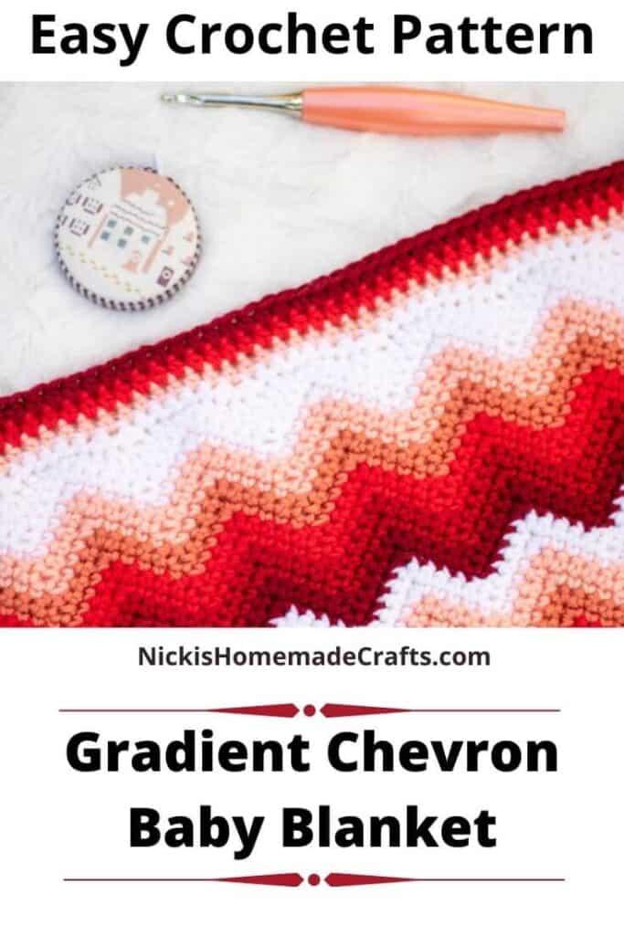 Gradient Chevron Baby Blanket - Free Crochet Pattern