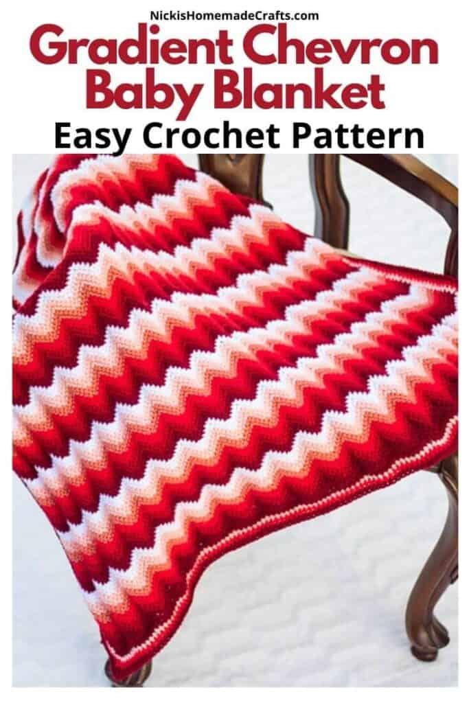 Gradient Chevron Baby Blanket Pattern