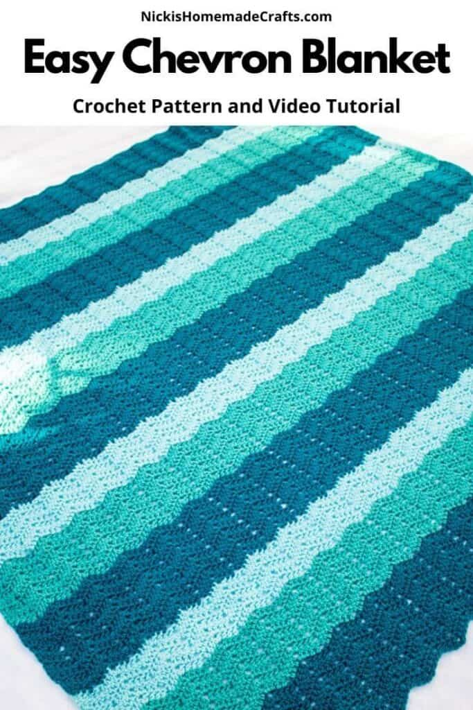 Crochet Easy Chevron Blanket