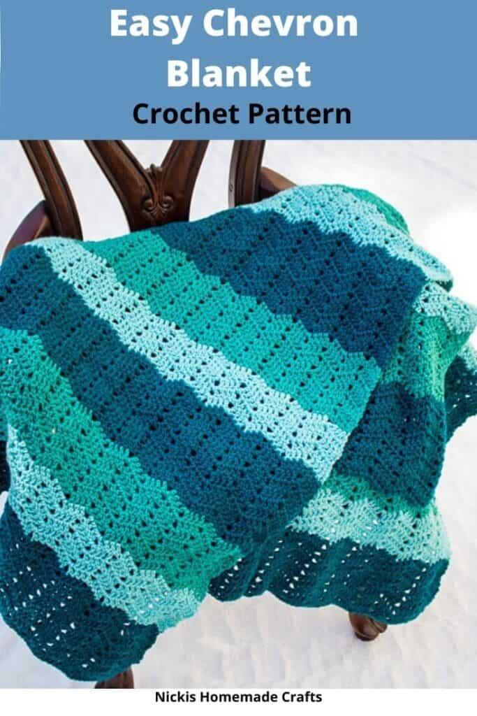 Easy Chevron Crochet Blanket - Paid Crochet Pattern