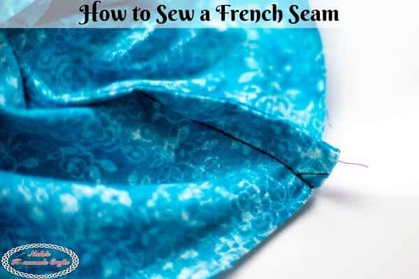 Sew a French Seam for Crochet Pouch or Bag lining