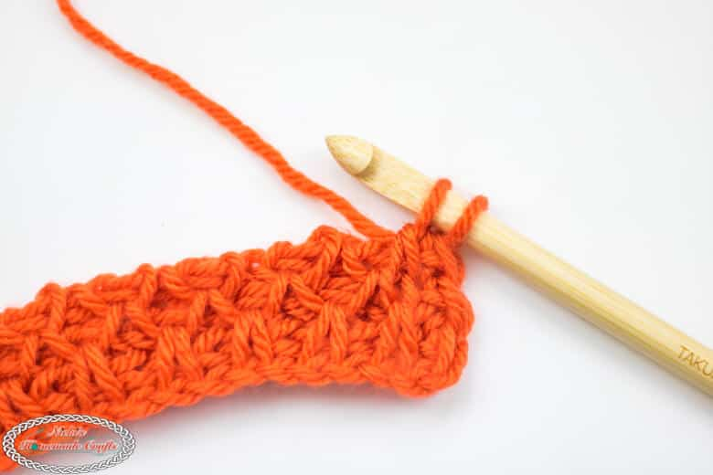 Smock Crochet Stitch Tunisian Tutorial Row 3