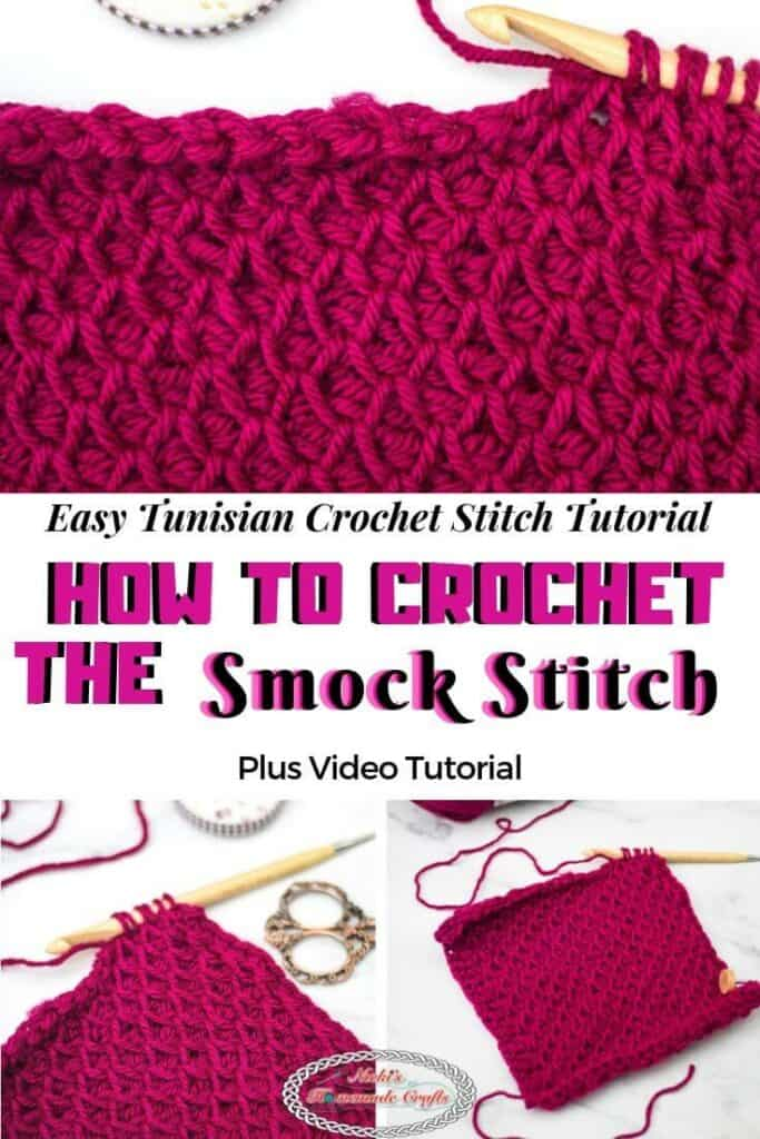 Tunisian Crochet Smock Stitch