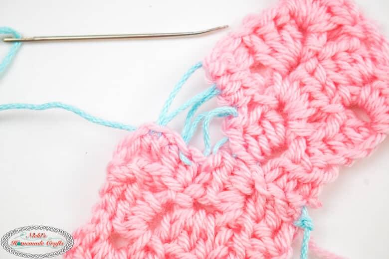 Crochet Mattress Stitch sewn