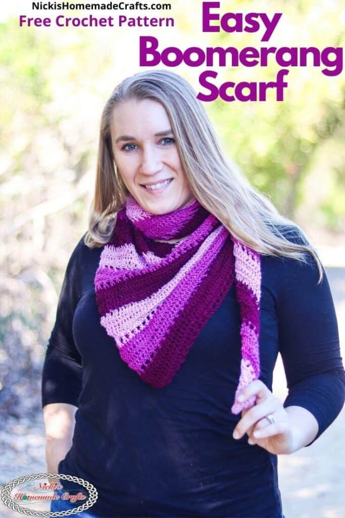 Easy Boomerang Scarf Crochet Pattern
