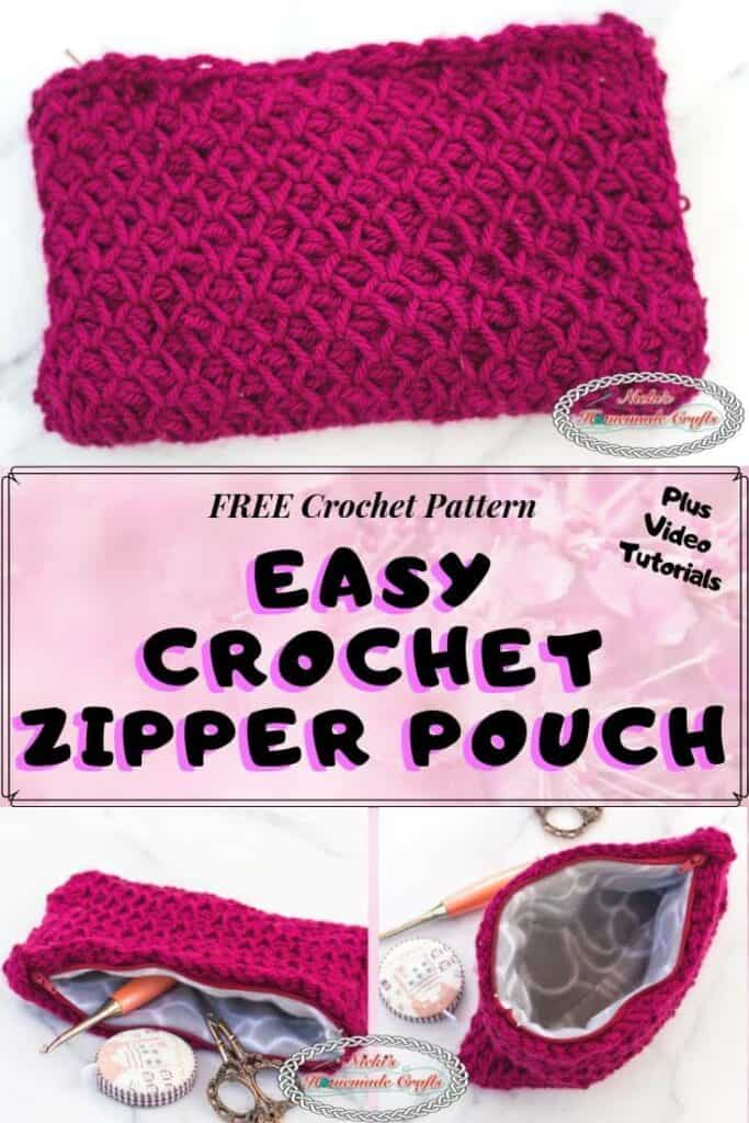 Easy Crochet Zipper Pouch