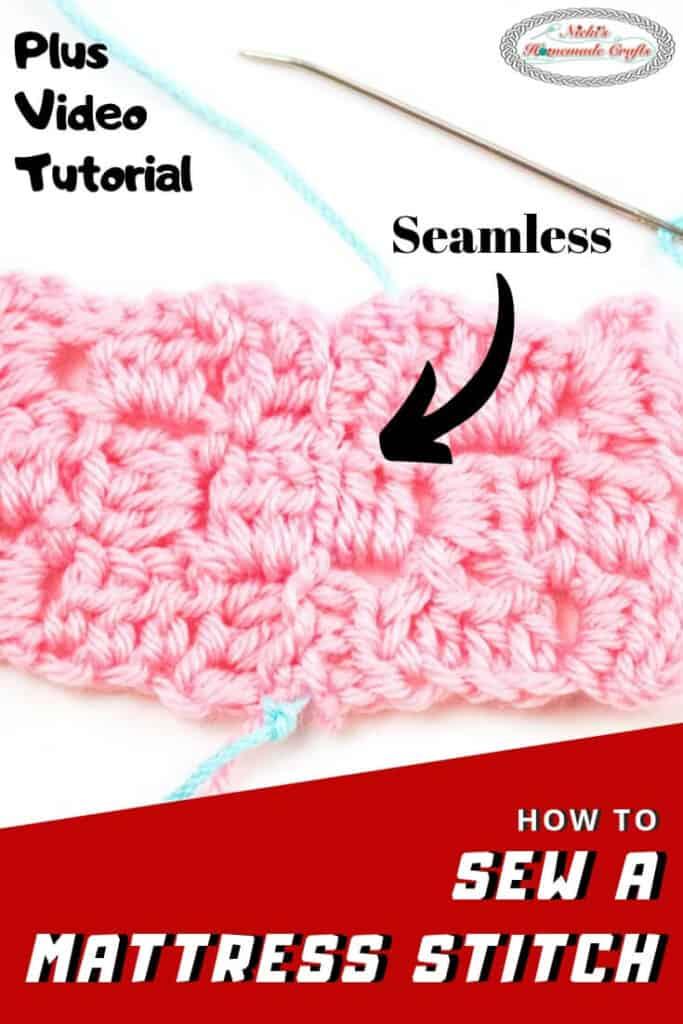 Mattress Stitch sewn easily for Crochet