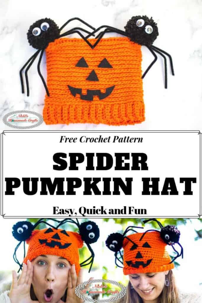 Spider Pumpkin Hat Free Crochet Pattern