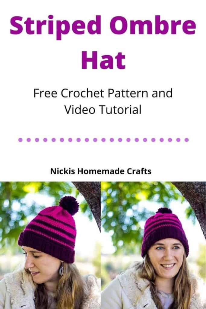 Striped Ombre Hat - Free Crochet Pattern