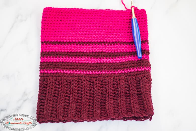Crocheting a Striped Ombre Hat