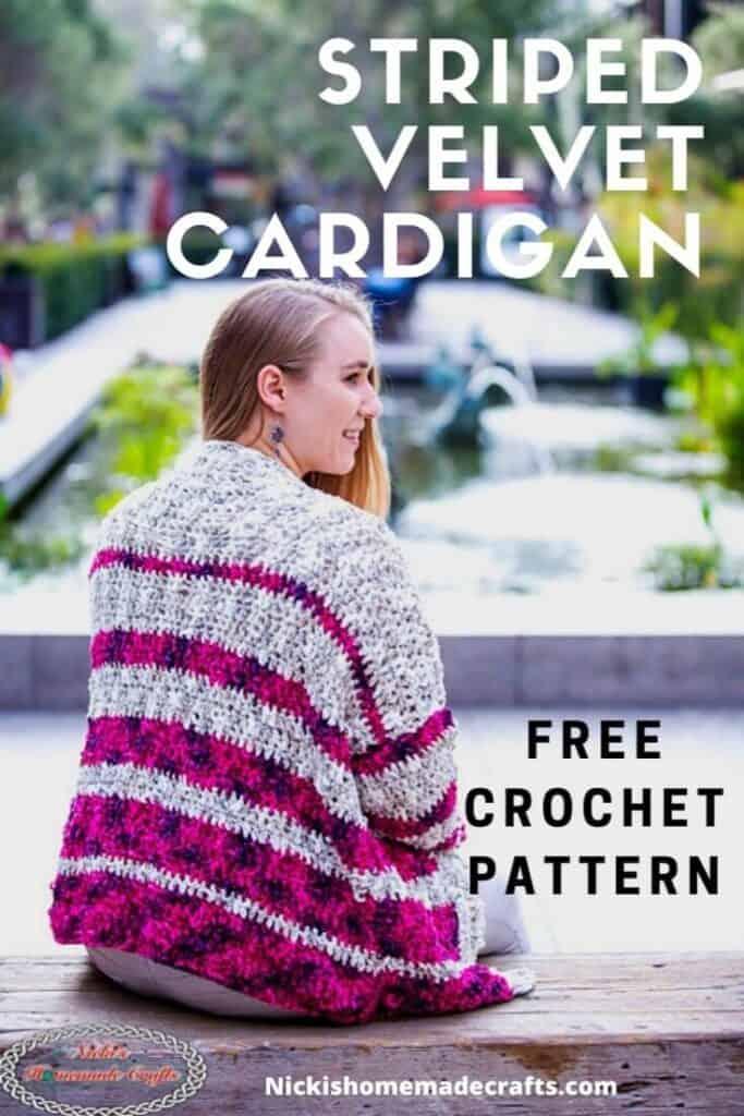 Striped Velvet Cardigan - Free Crochet Pattern