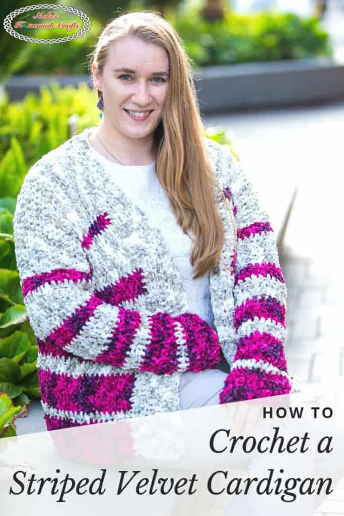 Striped Velvet Cardigan - Free Crochet Pattern
