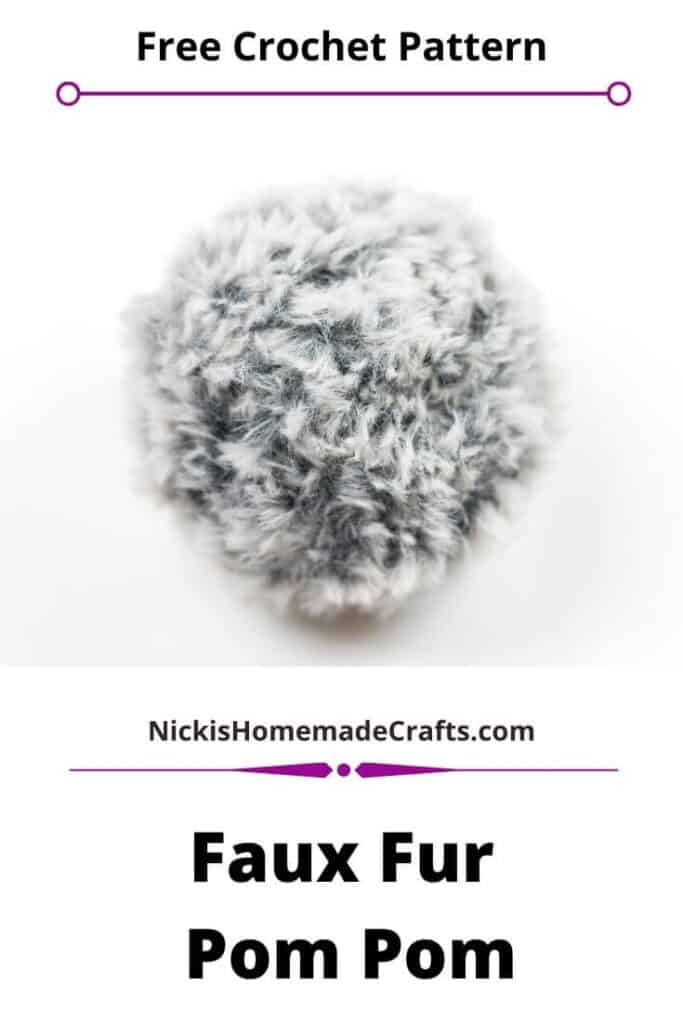 Faux Fur Pom Pom Crochet Pattern