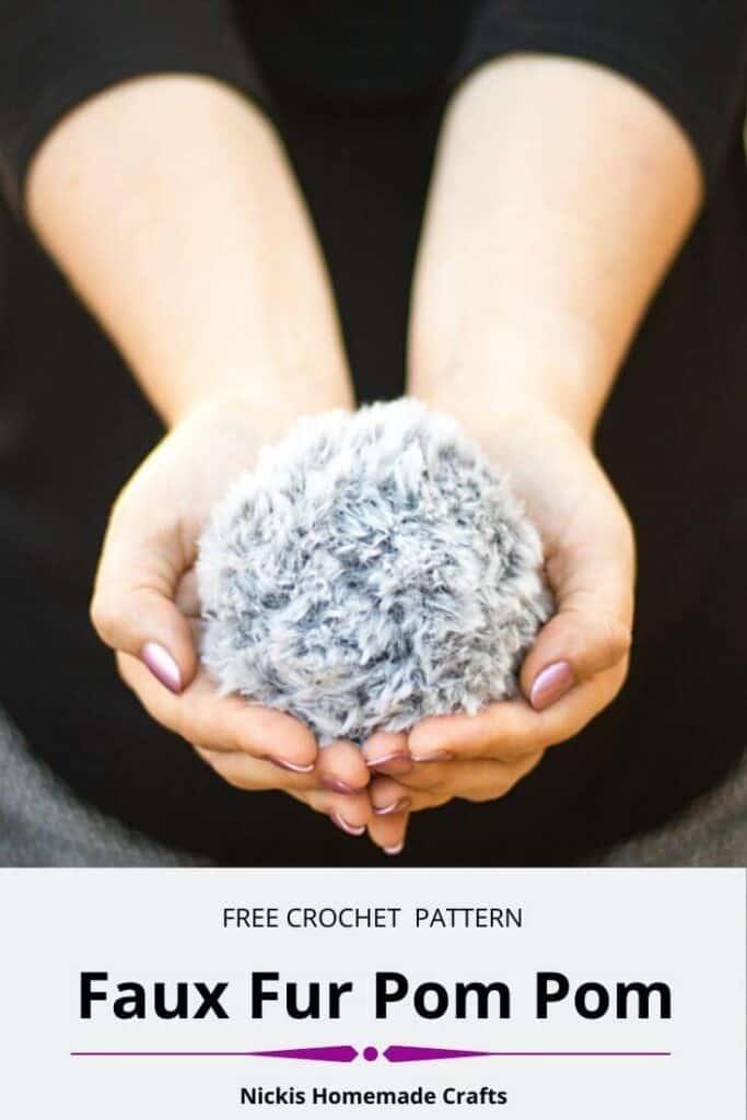 Free Crochet Faux Fur Pom Pom Pattern