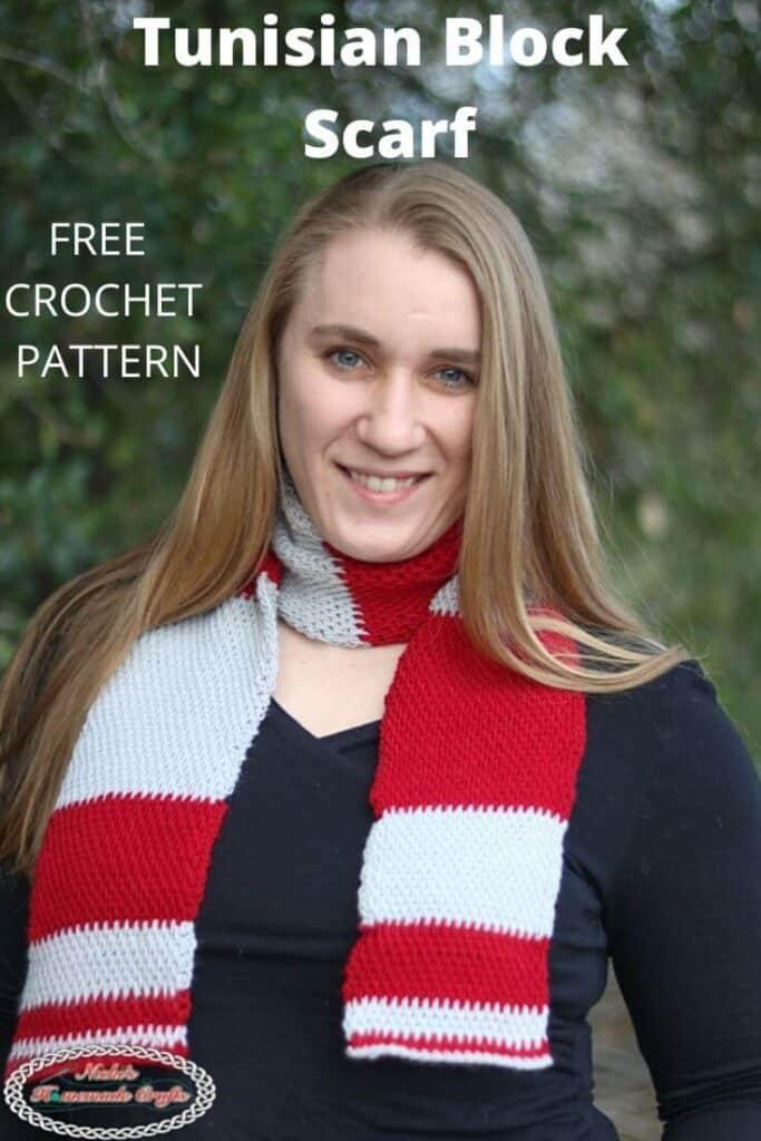 Free Tunisian Block Scarf Crochet Pattern