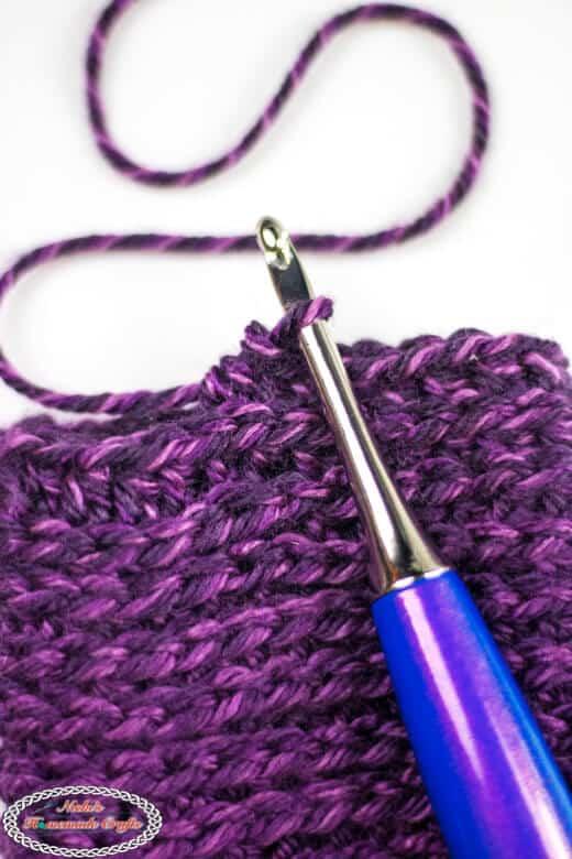Half Double Crochet in the third loop behind V Tutorial