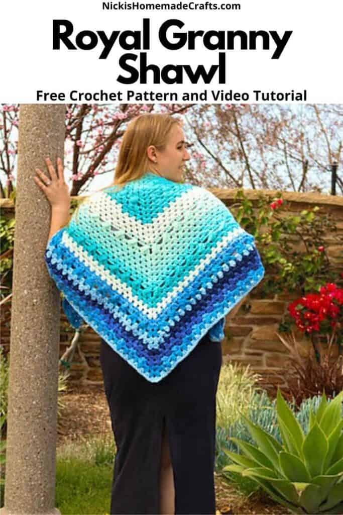 Royal Granny Shawl - Free Crochet Pattern