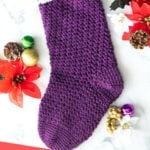 Faux Fur Christmas Stocking Crochet Pattern
