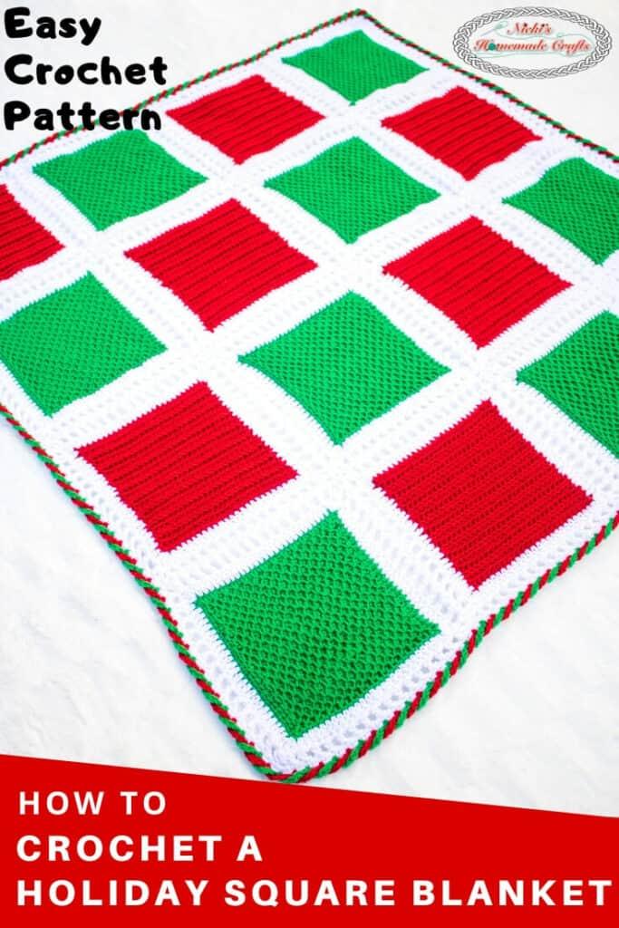 Holiday Square Blanket - Crochet Pattern