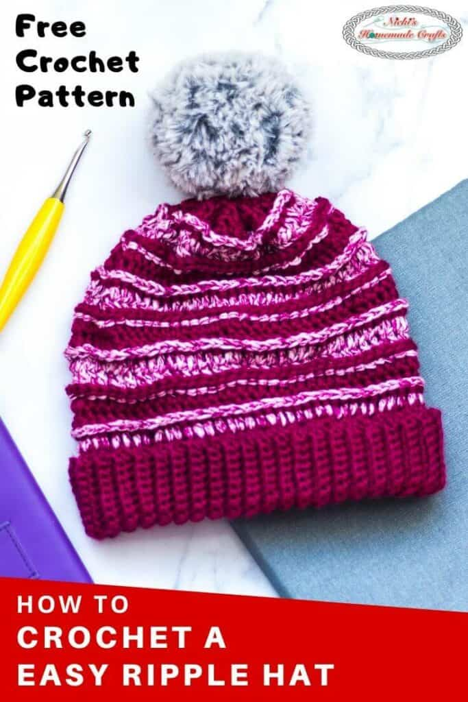 Easy Ripple Hat Free Crochet Pattern