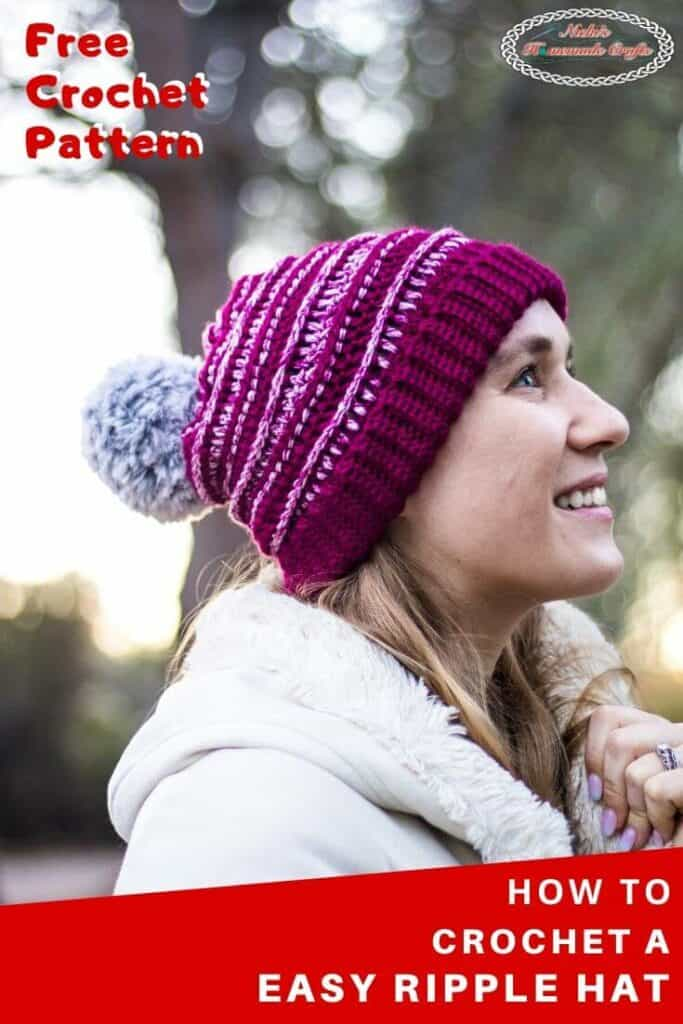 Easy Ripple Hat - Free Crochet Pattern
