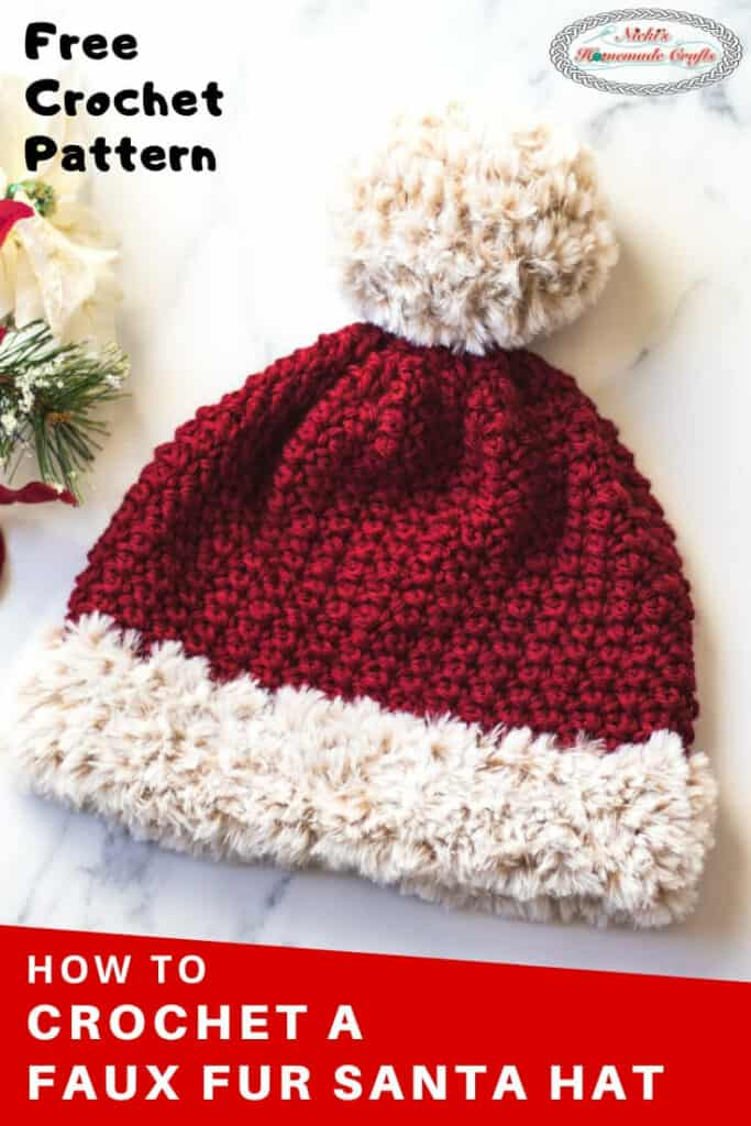 Faux Fur Santa Suzette Hat Free Crochet Pattern