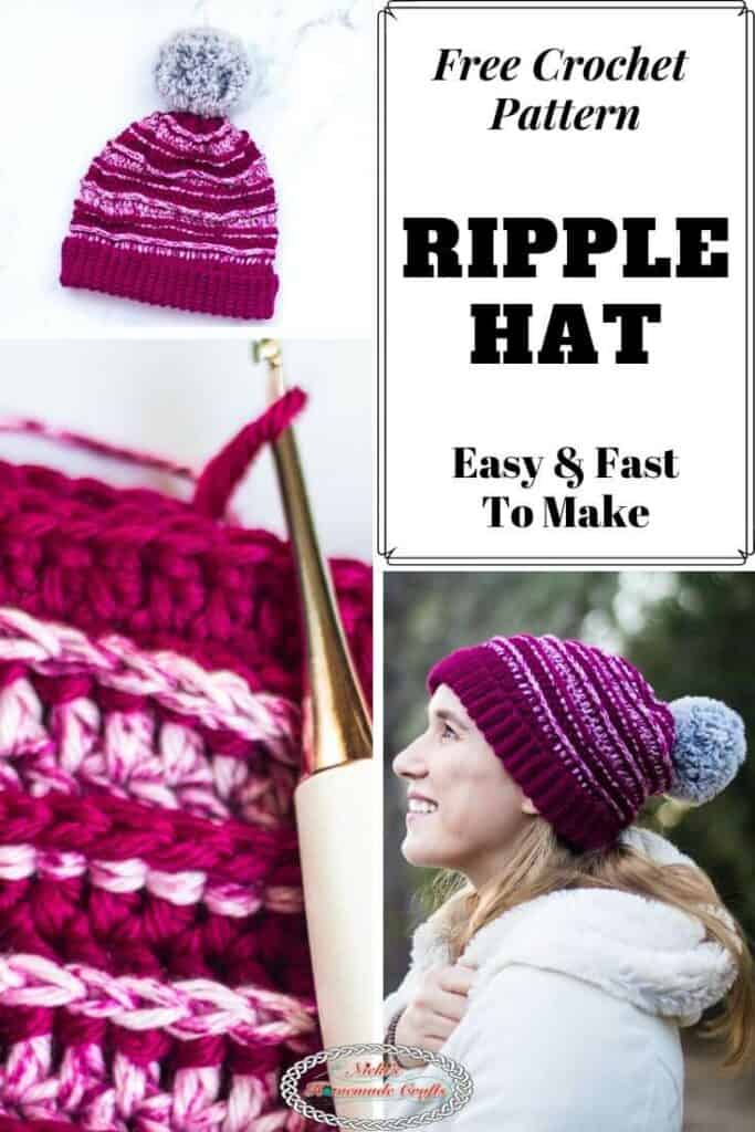 Ripple Hat Easy Free Crochet Pattern