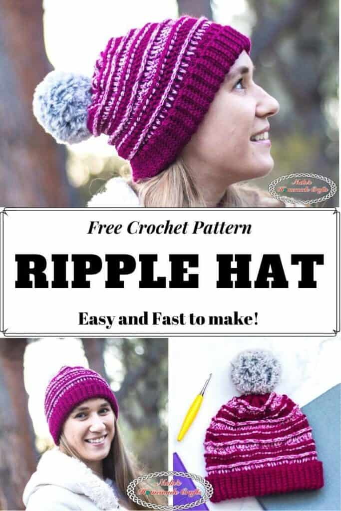 Ripple Hat - Easy Free Crochet Pattern