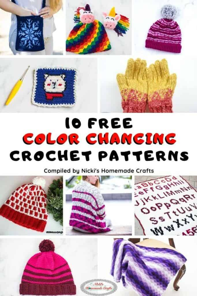 10 Free Color Changing Crochet Patterns